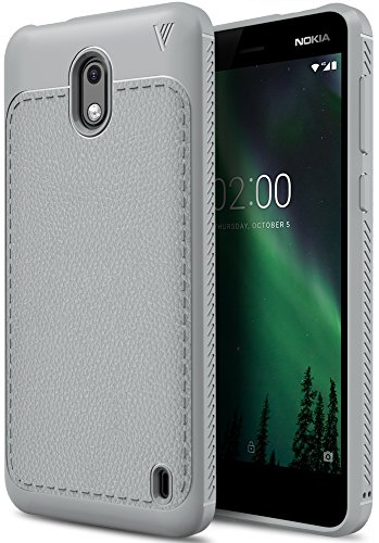 Nokia 2 Cover, KuGi Nokia 2 custodia, ultra protettiva, Resilient assorbimento, Sento comodo,per la Nokia 2.(Grigio)