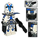 Custom Brick Design CBD 501st Legion Clone Trooper Offizier Captain Drogo Figur - aus Lego Star Wars & Custom Teilen Gefertigt