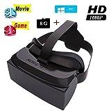 malvolts hmd-51880'wide Screen 1080P Video 3d Movie Game gafas Headset Privado Mobile Cine Personal Theater Juego de realidad virtual VR Movie Todo en Uno
