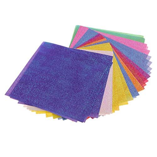 B Baosity 50 STÜCKE Glitter Craft Bunte Papier Karte DIY Handarbeit Hobby Craft Papier Scrapbooking Papiere - 15x15x0,5 cm