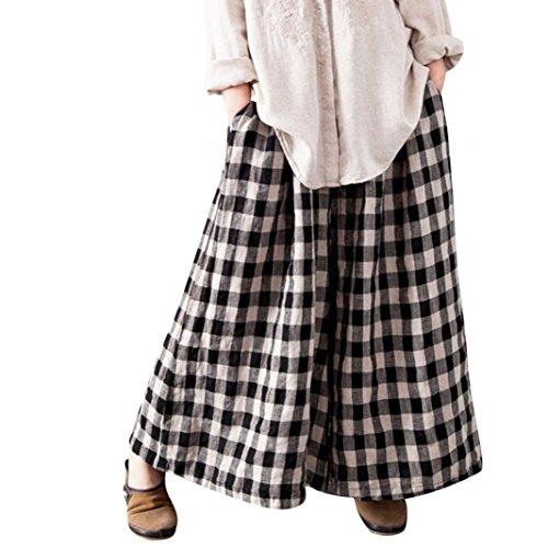 DAYLIN Mujer Pantalones Largos a Cuadros