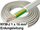 5 Meter - NYM-J Kabel, 1x 16mm², grau, Erdungsleitung/Erdungskabel