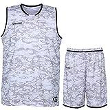 Spalding Basketball Move Shirt + Shorts für Kinder und Erwachsende (Camouflage/schwarz, M)