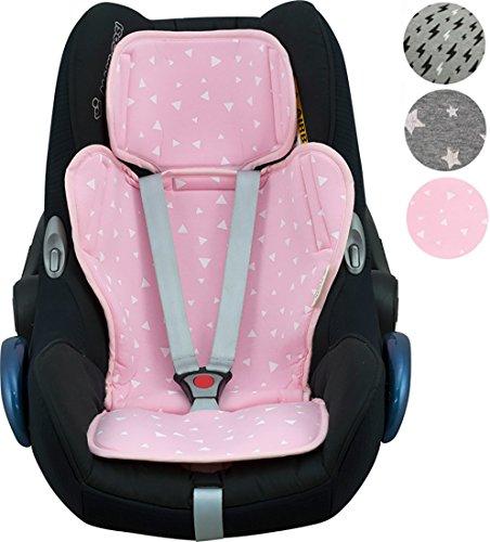 Sitzauflage Universal für Auto-Kindersitz aus der Gruppe 0,1, 2, 3 Janabebe (Pink Sparkles)