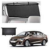 Semaphore Car Rear Window Roller Curtain Sunshade Black for Maruti Suzuki Ciaz