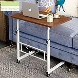 WETERS Sofa Beistelltisch tragbaren Laptop-Schreibtisch Schreibtisch Nacht heb- Mobil Schreiben faul Tisch(Wilde Eiche)