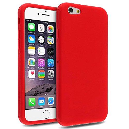 Galleria fotografica Semoss Premium Hybrid Rubber Bumper Custodia in Silicone per Apple iPhone 6 (4.7) TPU Silicone Gel Cover (Rosso)