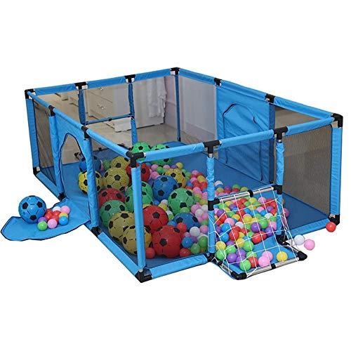 Yuhao Baby Laufstall mit Ballnetz, Sicherheit groß Kinderspielzaun Kleinkind Indoor Outdoor Play Arealue
