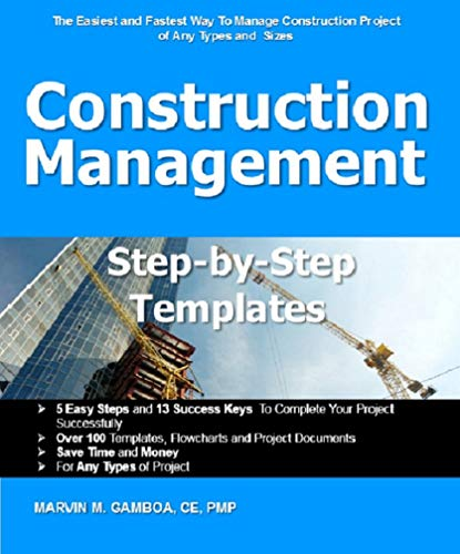 Construction Management Step by Step Templates (English Edition)