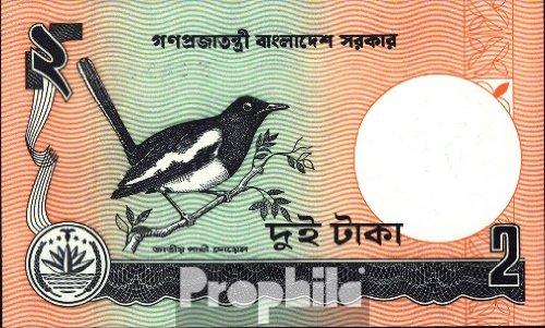 Prophila billetes para coleccionistas: Bangladesh Pick-No.: 6C Un unc 1989 2 Taka Aves