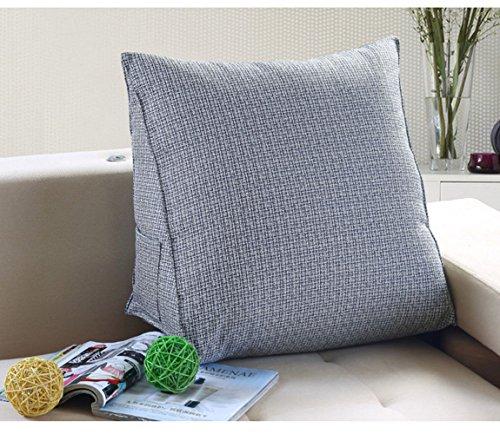 Oreiller triangulaire de support JYSPORT pour lire au lit, reposer le dos, coussin en peluche amovible avec housse matelassée Taille unique 8