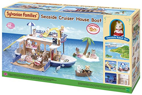 SYLVANIAN FAMILIES- Seaside Cruiser House Boat Mini muñecas...