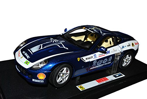 Mattel Ferrari 599 GTB Fiorano Blau Panamericana 1/18 Elite Modell Auto