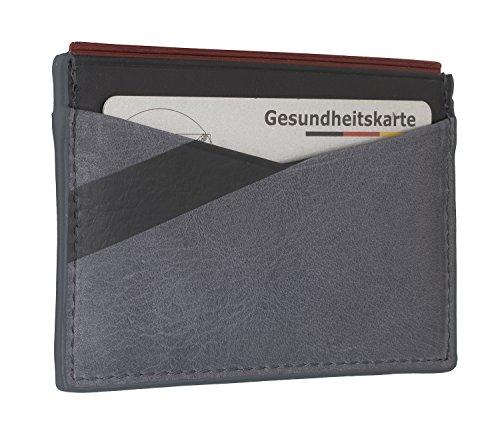 Fossil Herren Kartenmäppchen Ace - Card Case Ausweis-& Kartenhülle, Grau (Grey), 0.6x6.9x10.4 cm