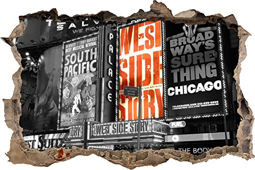 programma eccezionale magnifico nero / innovazione di Broadway parete bianca in look 3D, parete o (Broadway Sala Da Pranzo)