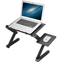 Table de Lit pour Ordinateur Portable, Mbuynow Support pour Ordinateur Portable Ventilé en Aluminium Pliant, Plateau…