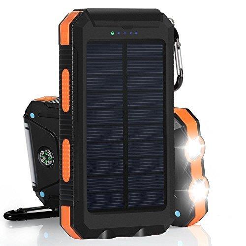 Chargeur solaire portable Sunyounger™ de 5000mAh pour Iphone5s et iPad4 - Étanche à l'eau et à la poussière et résistant aux chocs - Couleur Jaune