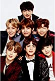 #8: MAHALAXMI ART BTS Music Wallpaper Series 5 Wall Poster Print, 13x19 Inches, Multicolor
