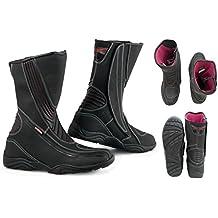 131e04760a7e3 A-Pro Stivale Moto Impermeabile Gran Turismo Sportivo Pelle Nero 42