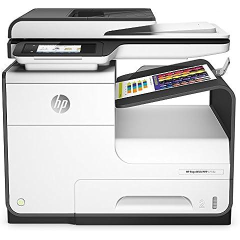 HP PageWide 377dw A4 Wifi Negro, Color blanco - Impresora multifunción (300 x 300 DPI, 600 x 600 DPI, 1200 x 1200 DPI, A4, 216 x 356 mm, Color)