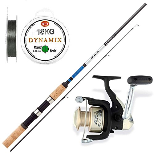Hecht Angelset Combo No.1 - Shimano Rute + Shimano Rolle + Wft Schnur - Angeln