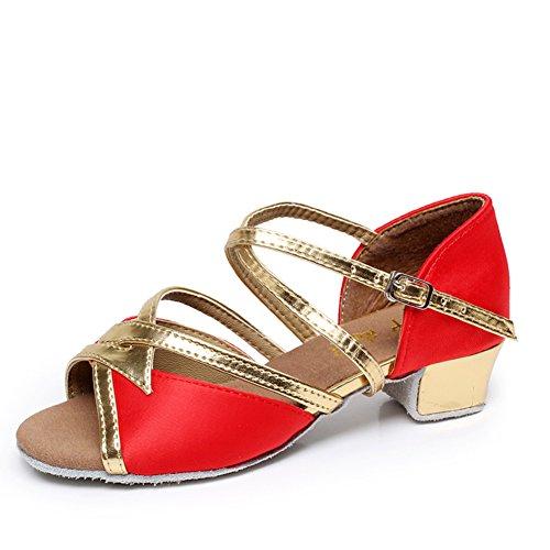 Scarpe da ballo latino per le ragazze/Bambini con moderne scarpe da ballo/Scarpe inferiori molli F