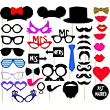 Syga Photo Booth Party Props Craft Item (36 Pieces), Multicolour