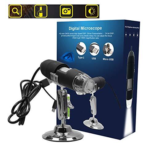 Preisvergleich Produktbild HUAXING WiFi USB Digital Microscope Compatible mit Windows / Android / iOS Devices,  1080P HD 2MP Kamera,  50x bis 1000x Magnification Mini Pocket Handheld Wireless Endoscope