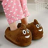 Pantofole Emoji, Pantofole da camera da letto in cotone per donna Poo