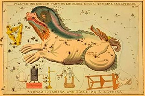 The Poster Corp Jehoshaphat Aspin – Psalterium Georgii Fluvius Eridanus Cetus Officina Sculptoris Fornax Chemica and Machina Electr Kunstdruck (30,48 x 45,72 cm)