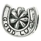 925Sterling Silber Viel Glück Hufeisen Flower Triumph Perle für europäische Charm Armband