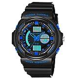 Best Teen Boys - BINZI Men's Sports Watch Stopwatch with Digital Analog Review