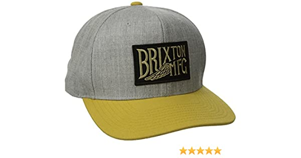 e7fdd80431 Brixton Coventry Snap Back Cap, Unisex, Cap Coventry Snap Back, Light  Heather Grey/Gold: Amazon.co.uk: Sports & Outdoors