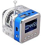 HCFKJ Mini USB MicroSD Karte FM Radio LCD Display Lautsprecher Musik MP3 Player (BU)