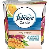 Febreze Geruchsbeseitigende Duftkerze Tropenfrüchte, 2er Pack (2 x 100 ml)