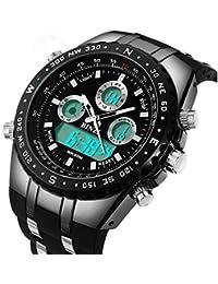 Relojes Hombre Deportivo Binzi, Lujo Digital Watch analogico Caballero, Reloj de Pulsera Militar,