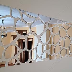 FLEXISTYLE Large acrylic wall mirror decor ROCKS 140x70cm ...