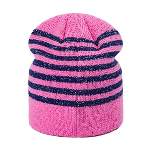 ASAP CHIC Unisex Jungen Mädchen Winter Mütze Strick Beanie Fleece Kappe Cute Bow Hüte Grobstrick Beanie, Rot, Einheitsgröße (Asap Beanie)
