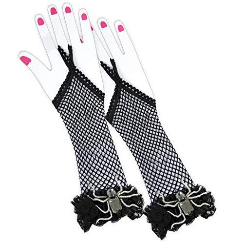 FASCHING 56459 Handschuhe Spider Lady Spinne schwarz Netz NEU/OVP