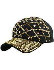 VISER Versione coreana europea e americana Unisex Ragazzi Ragazze Donna Uomo regolabile Diamante con strass tempestato da tennis Baseball Cappellino da sole cappello piatto Maglia copricapo Protezione Abbigliamento specifico Cappellini