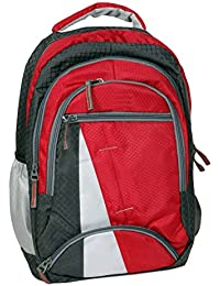 """FIPPLE Canvas 12.5 Liters Red & Grey 15"""" Laptop Backpack"""