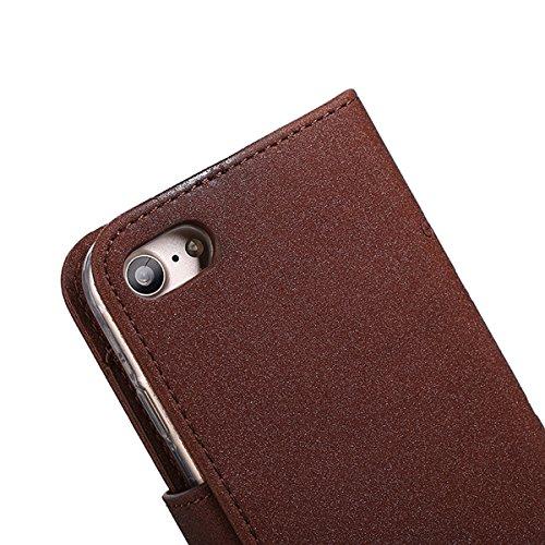 iPhone 6/6s (4.7) Custodia Cover, EUWLY Portafoglio Custodia Premium PU Leahter Protettiva Cover Case Per iPhone 6/6s (4.7), Goffratura Fiore Farfalla Modello PU Pelle Custodia Caso Libro Flip Walle Marrone