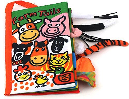 colas animales libro de tela bebé de juguete Desarrollo Libros Aprendizaje y Educación(Farm tails)