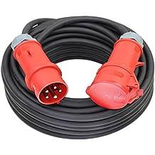 CEE Starkstromkabel 400V 16A 5x1,5mm² H07RN-F mit MENNEKES Stecker und Kupplung -2m-