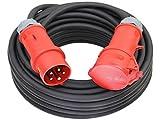 CEE Starkstromkabel 400V 16A 5x1,5mm² H07RN-F mit MENNEKES Phasenwender Stecker und Kupplung -10m-