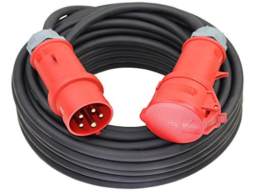 CEE Starkstromkabel 400V 16A 5x2,5mm² H07RN-F mit MENNEKES Stecker und Kupplung -2m-