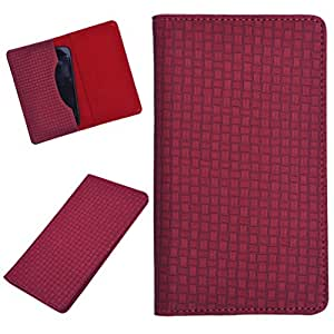 DCR Pu Leather case cover for Lava Iris 401E (red)