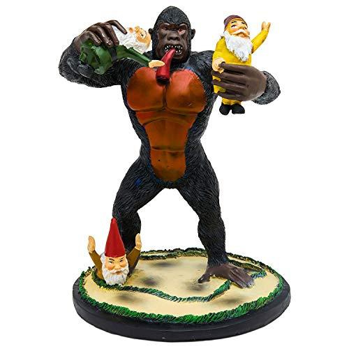 Gartenzwerg Statue Home Outdoor Garten Rasen lustige Figur wütend Dinosaurier tolle Geschenke Gorilla (Bunte Gorilla Kostüm)