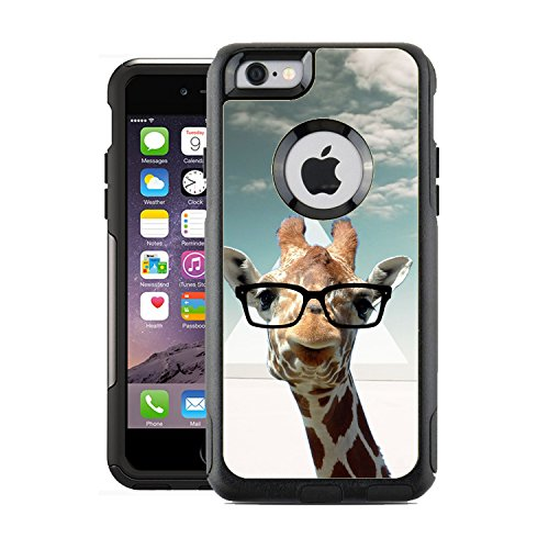 Schützende Design-Vinyl Haut Aufkleber für OtterBox Commuter iPhone 6/6S Case/Cover-Hipster Giraffe Geek Glas Design Muster-Nur Skins und Nicht Fall-von [teleskins]