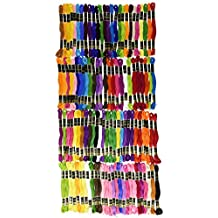 Iris trenzado de hilo para bordar unidades), 100% algodón, multicolor, 8m, 105unidades